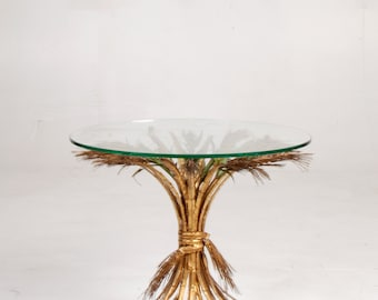 "French Gilt ""Sheaf of Wheat"" Table"