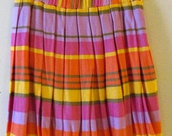 Bright Striped Skirt S M 28 Waist