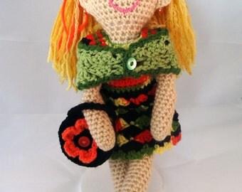 Crochet Doll, Saffron, A Grandine Doll