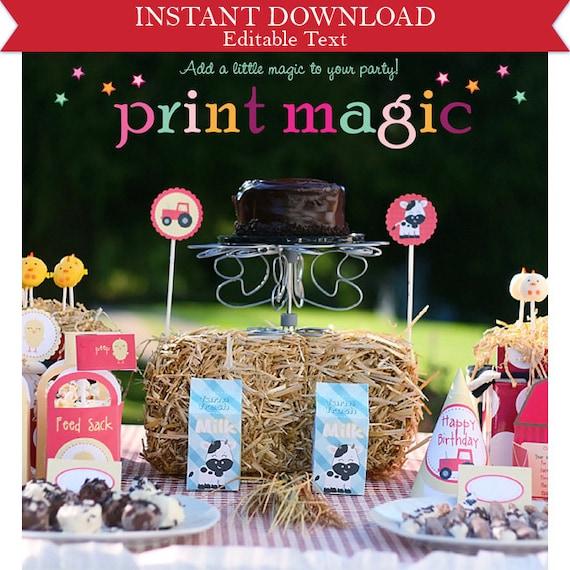 barnyard farm animals party invitations amp by printmagic on