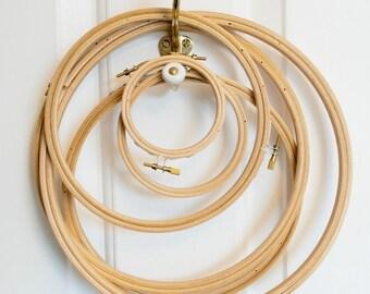 """Embroidery hoop, 10cm (4""""), wooden hoop"""