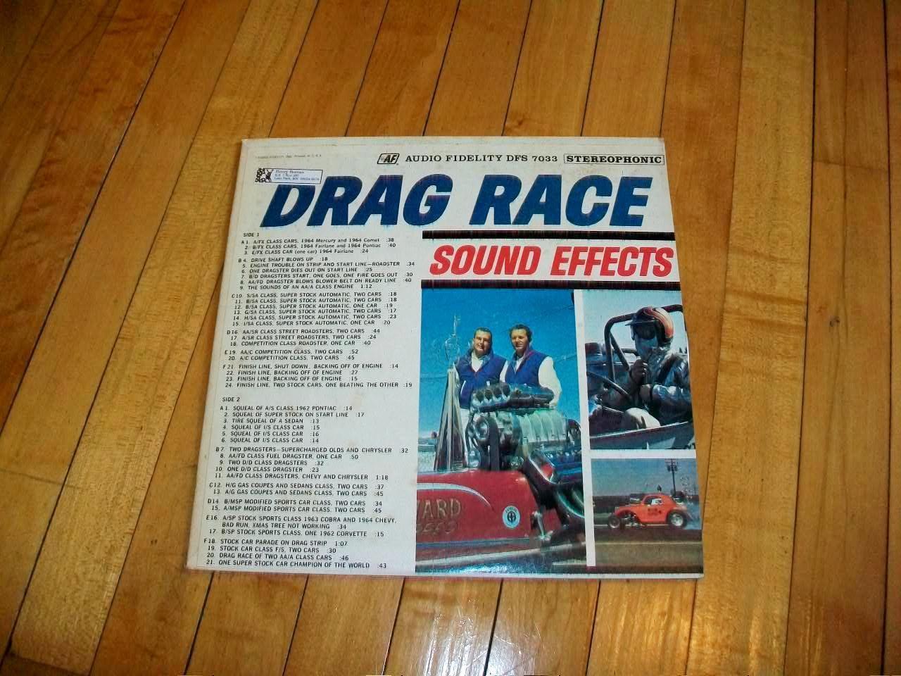 Drag Race Sound Effects Record Album Vintage 1964 Dfs 7033