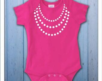 Girly Baby Pearls Onesie