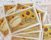 PERSONALIZED French Sunflower Bookplate Stickers- Vintage Inspired-Acid Free