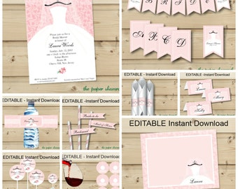 Editable instant Download Bridal Shower Party Pack