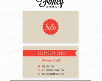 Hello Business Card Template
