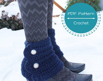 crochet spats pattern, small ankle warmer, winter leg warmers pdf pattern, recipe, easy beginners crochet, one size