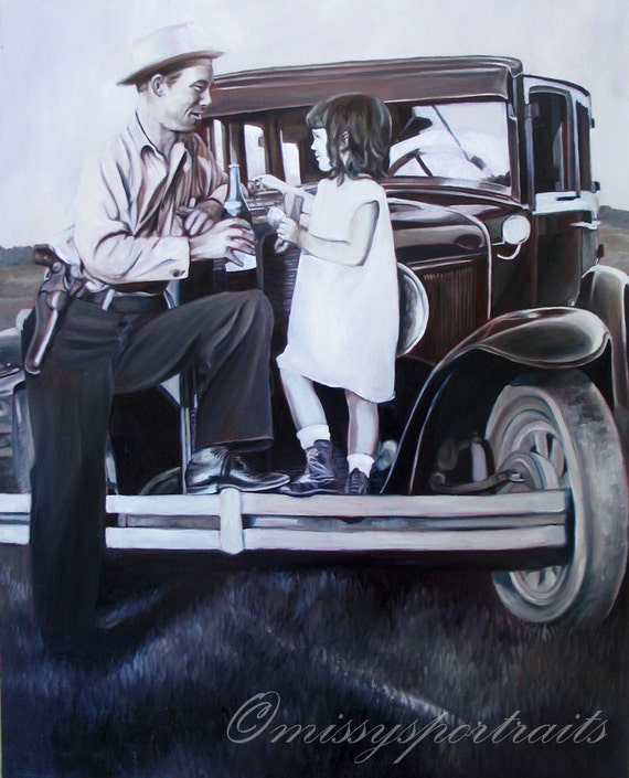 CUSTOM PORTRAIT - Oil Painting - From a Black and White Photo - Perfect Gift - 16x20
