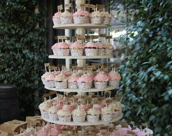 Cupcake Stand Adjustable, Wood Cupcake Stand, Round Cupcake Stand, 6 Tier Cupcake Stand, Cake Stand, Your Divine Affair