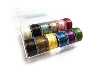 1 Spool - Beading Thread - One G Nylon - 46m / 50 Yards, 12 Colors to Choose