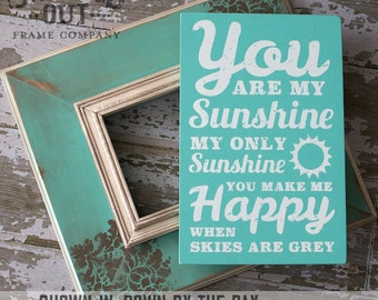 You Are My Sunshine Wall Art Distressed Subway Wood Sign
