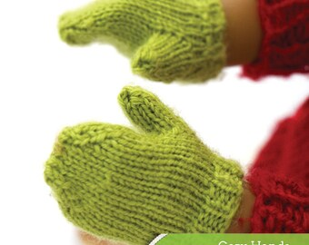 Cozy Hands PDF knitting pattern for 18 inch dolls like American Girl - INSTANT DOWNLOAD