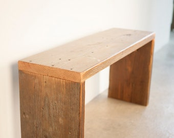 Modern Reclaimed Wood Bench