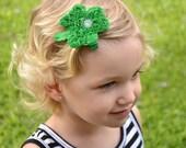 St Patricks Day Hair Clip - Green Shamrock Hair Clip -  Shamrock Headband - St. Patrick's Day - Hair Clip - Toddler Teenager Adult Headband