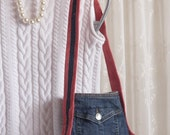 Small Denim Purse Leather and Denim Bag Again
