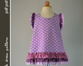 NEW Caroline Dress - PDF Pattern - Size 12 months to 8 years old and tutorial, PDF Downloadable, Easy Pattern