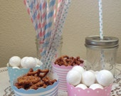 Paper Drinking Straws Gender Reveal Baby Shower