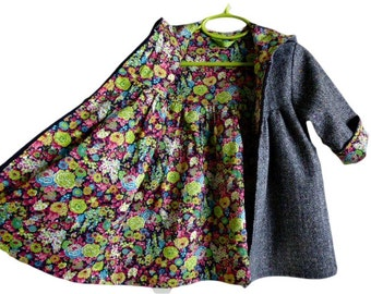 Toddler Girls Hooded Winter Swing Coat Custom Design