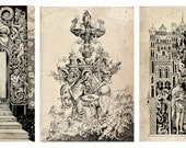 Set of three baroque posters