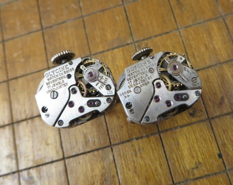 Glycine Watch Movement Cufflinks. Great for Fathers Day, Anniversary, Groomsmen or Just Because.  #719