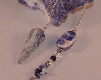 Dowsing Pendulum Sodalite and Star New Age Magick Divination Pagan Witchy146638P