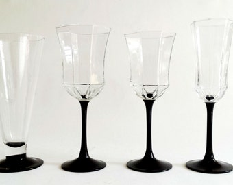 popular items for luminarc stemware on etsy. Black Bedroom Furniture Sets. Home Design Ideas