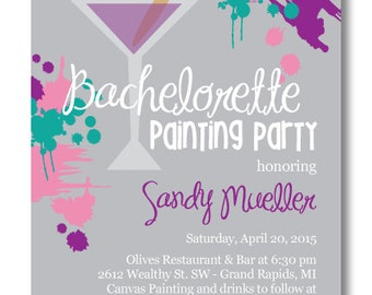 Printable Bachelorette Painting Party Invitation