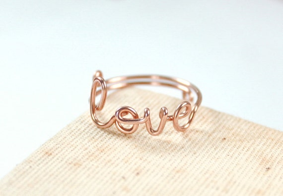 Bague love or rose
