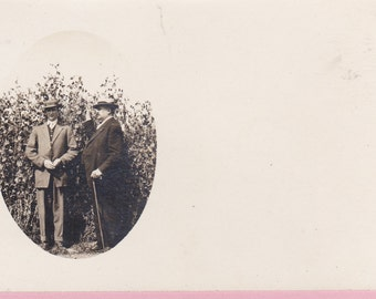 "Ca 1908 ""2 Men"" Real Photo Postcard - 1496"