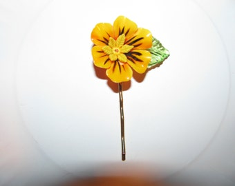 Vintage Flower Garden Ooak Recycled Costume Jewelry Victorian Hair Bobby Pin
