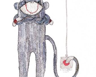 Naughty Monkey Emergency Card