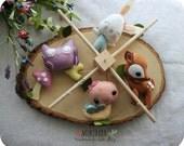 BABY MOBILE - woodland baby mobile - custom crib mobile - forest - woodland nursery - forest nursery - butterfly - bunny - owl