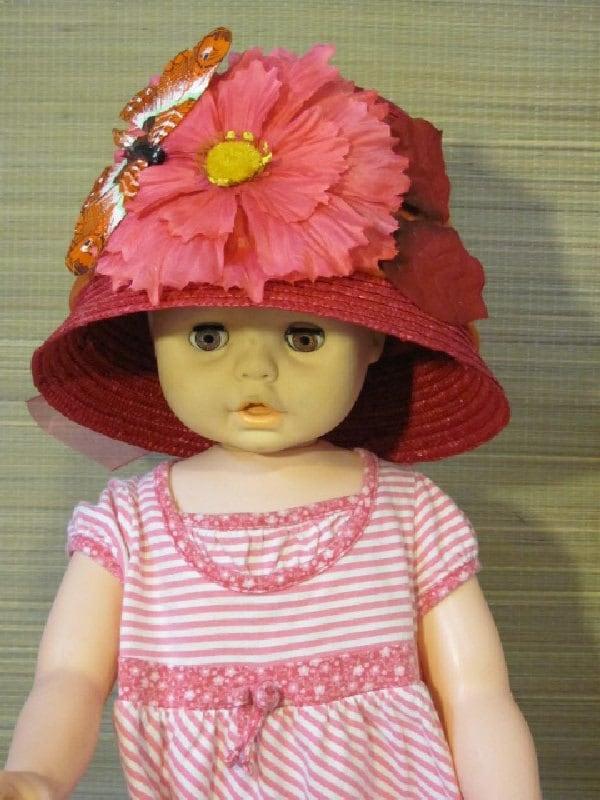 tea party hat little girl dress up hat play hat by anndances. Black Bedroom Furniture Sets. Home Design Ideas