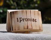 Personalized Ring Bearer Box-Rustic Wedding- Ring Bearer Pillow Alternative