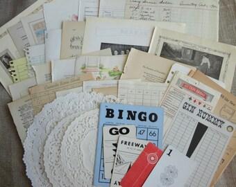 Vintage Ephemera Large Paper Inspiration Kit 45 Pieces