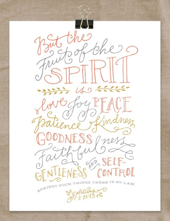 Crush image with fruits of the spirit printable