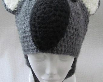 Grey Koala Crochet Hat