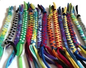 Upcycled Tshirt Cat Toys with Tail - Custom Set of 3 - Choose your own colors - Ecofriendly For Pets