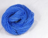 Daydreaming blue - Hand  spun yarn. Leicester longwool and corriedale 2 ply hand dyed, Pure  wool.