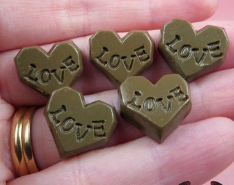Kawaii LOVE CHOCOLATE CANDY Cabochons / Resin Decoden Cabochons (8 pieces)