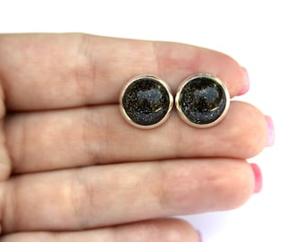 Night Sky Glitter Earrings - Posts/Studs - Bubbles Collection You Pick Size L, M, S (B24)