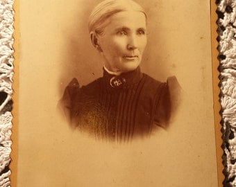 Vintage 1800s Photograph Older Lady 4 X 5 1/2 inches