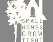 Small Homes - Digital Download - Printable - Color customizable