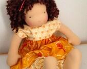 Handmade Waldorf Doll Dress with Pantaloons 16-18 inch