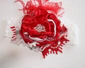 4th Of July Headband- Lace Baby Headbands-Baby Girl Headband-Baby Headband-Toddler Headband-July 4th Headband-Photo Prop