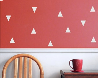 vinyl wall decal triangles - cute triangle vinyl wall decals - geometric wall decor
