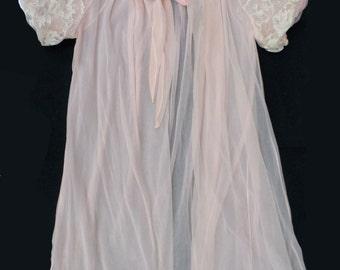 Vintage Sheer Avian Penoir  Robe