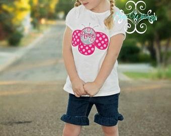 Flower initial or name shirt or bodysuit- Mod flower shirt