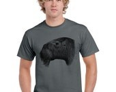 Walrus Tshirt. Mustache Shirt. Animal Shirt. Grey. White. Orange. Limited Edition.