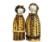 Friends Porcelain Figures, Two Girls, Sisters Ceramic Sculpture